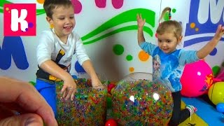 Игрушки в разноцветных шариках Orbeez / Найди сюрприз в Orbeez / Челлендж для детей