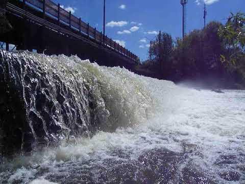 20.05.2019г Сукремльское водохранилище, сброс воды в речку Болва.