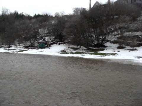 Thames River Flooding near London / St Marys, ON, Canada Dec 28, 2008