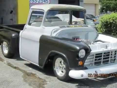 FOR SALE pro touring / resto mod 1955 chevy pick-up - YouTube
