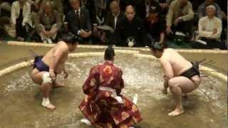 20120506 大相撲5月場所初日 琴欧洲vs妙義龍.