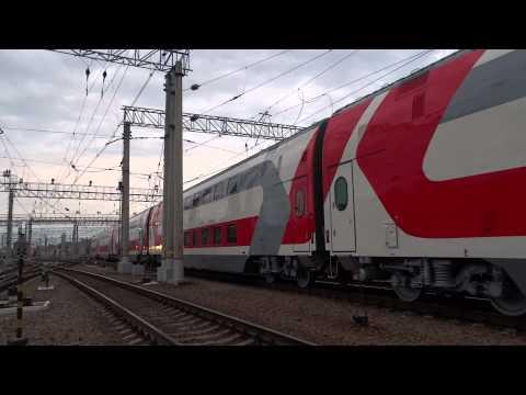 Новый Электровоз ЭП20 с Обкаткой Самого Нового Первого Сидячего Двухэтажного поезда RZD