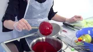 Яблоки и прочие фрукты в карамели. Обучающее видео компании