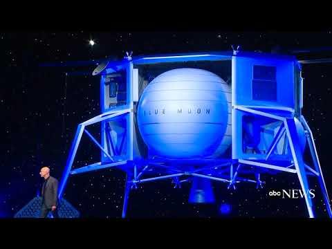 Jeff Bezos's space company unveils lunar lander