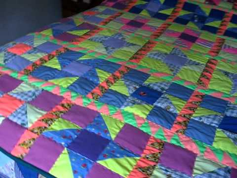 Quilt o colcha hecha de ropa usada y ejemplo uso metodo de - Como hacer una colcha de tela ...