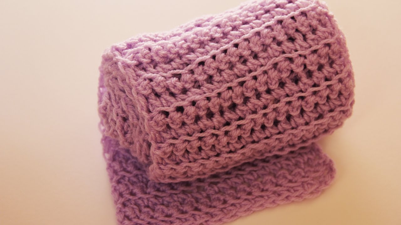 How to crochet a scarf (simple way) - video tutorial with detailed ...