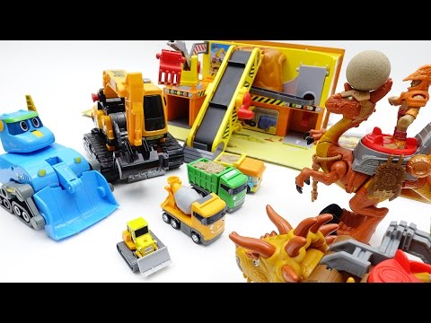 Thumbnail: Dinosaur Warriors attack Tayo Minions Construction Yard~! Help them~!