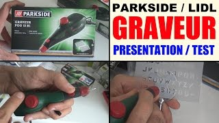 graveur parkside lidl PGG 15 b1 test (graviergerät power engraving tool)