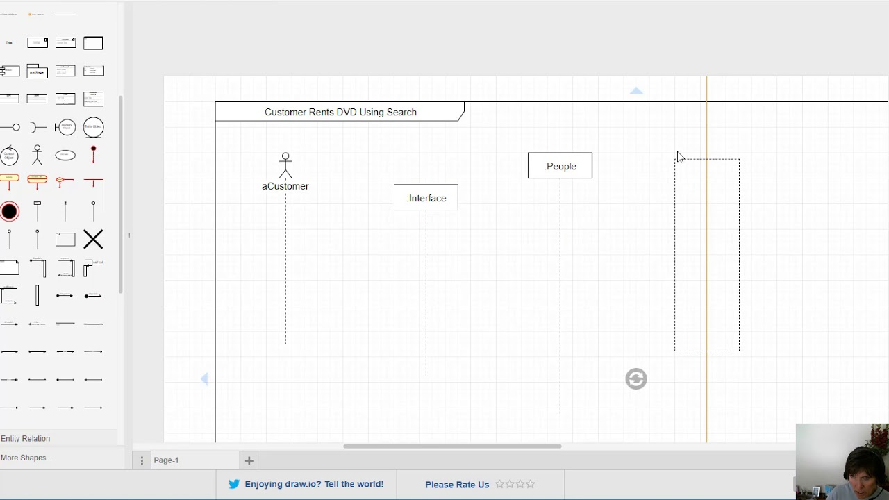 sequence diagram step 2 & 3 add actors, objects, lifelines
