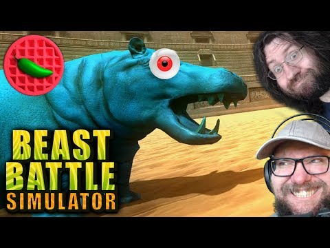 HYPERACTIVE HIPPO HUBBUB! -- Beast Battle Simulator (Steam PC Gameplay)