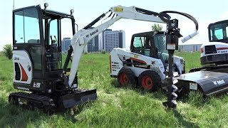 2018 Bobcat E19 and T590 Compact Track Loaders Demonstration - Megatron BG