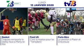 7/8 Sports. Emission du lundi 13 janvier 2020
