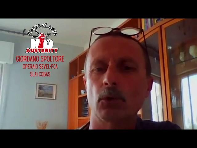 Coordinamento nazionale del FLNA, relazione di Giordano Spoltore, operaio FCA-Sevel