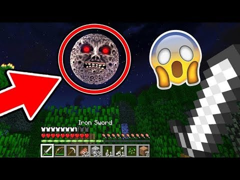 I SAW THE LUNAR MOON IN MINECRAFT! (VERY SCARY)