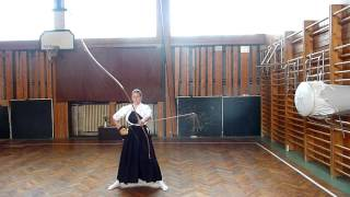 Kyudo training (makiwara)