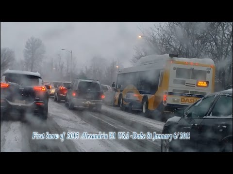 Ethiopian Instrumental - First Snow of 2015  USA Alexandria VA January 6 2015