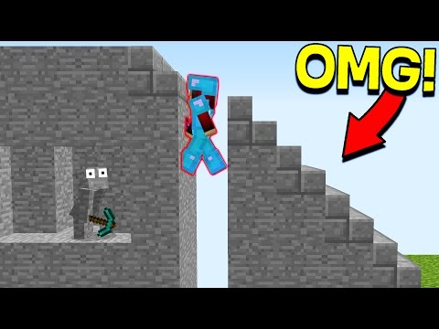 INVISIBLE MINECRAFT STAIRCASE TROLL! (Minecraft Trolling)