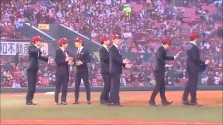 WORLD ORDER in Ceremonial first pitch 始球式 2015 3 31