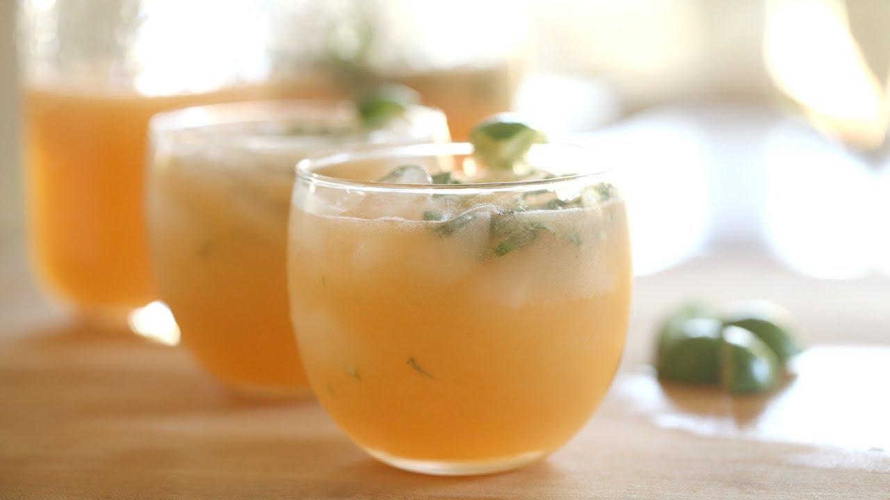 Cantaloupe Agua Fresca Drink Recipe || KIN EATS - YouTube