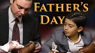 Shining My Shoes with My Son N…