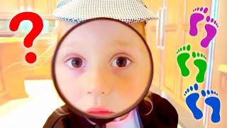 Como un detective Stacy está buscando indicios sorprendentes