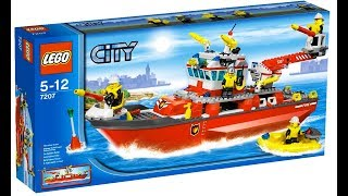 Lego City 7207 Fire boat - Lego Speed Build