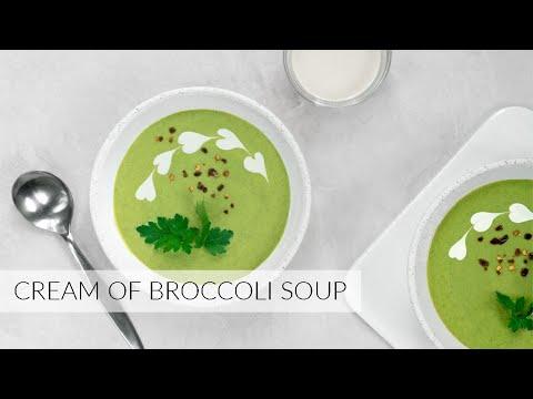 Cream of BROCCOLI SOUP | dairy-free