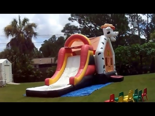 Bounce house business delivering fun