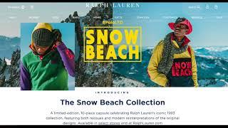 RALPH LAUREN POLO SNOW BEACH 2018 RETRO SOHO NYC RELEASE