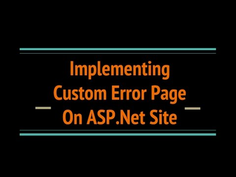 Implement Custom Error Page in Asp.Net C#