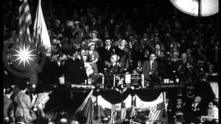 Franklin Roosevelt is nominated as Democratic Party candidate for President.  July 1932