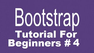 Bootstrap Tutorial For Beginners 4 - Creating Responsive Navbar with Dropdown Menus Part 1