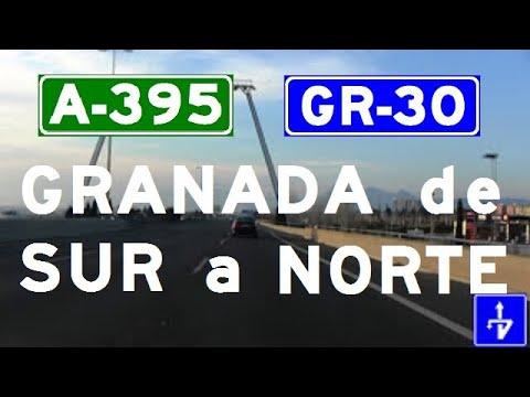 A-395 / A-44 Granada , Accesos , Túnel El Serrallo / Granada City - Highways in Spain