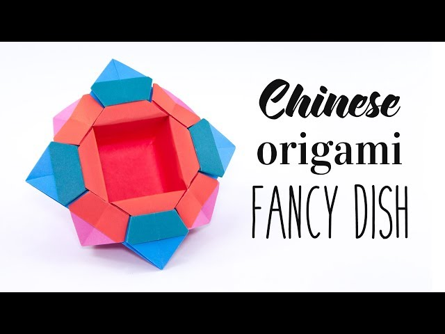 Origami Chinese Fancy Dish Tutorial - Paper Kawaii