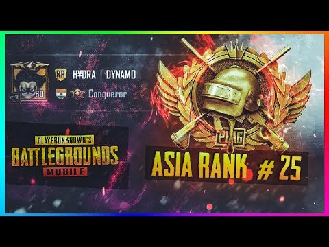 PUBG MOBILE LIVE   #20 RANKED PLAYER ASIA SERVER   CONQUEROR GAMEPLAYS ONLY