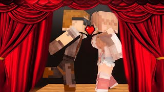 Minecraft School-BABIES KISS ON STAGE!!