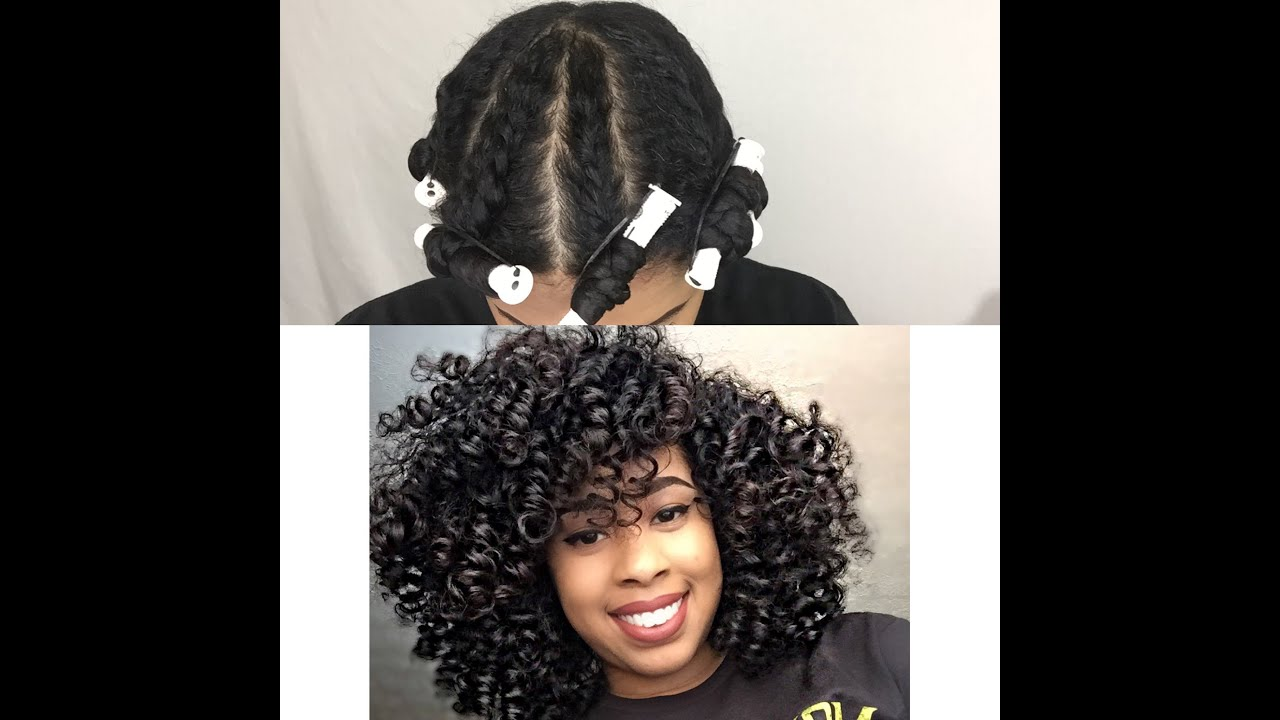 Natural Hair Flat Twist Out On Fine Hair Youtube