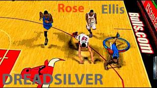 NBA 2K12 Ranked Match - Can I Get A Dub: Monta Ellis VS. Derrick Rose Feat. DreadSilverKid