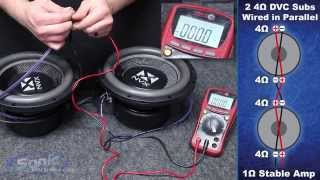 How to Wire Two Dual 4 ohm Subwoofers to a 1 ohm Final Impedance | Car Audio 101