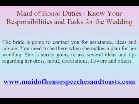 Maid Of Honor Duties Know Your Responsibilities And Tasks For The Wedding