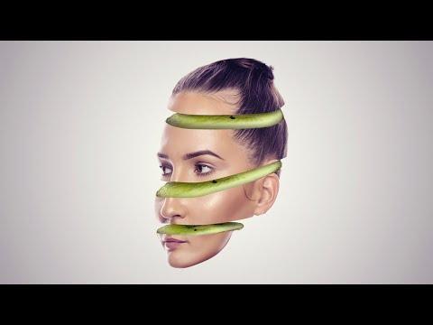 Fruit Face Photoshop Slice Effect Tutorial