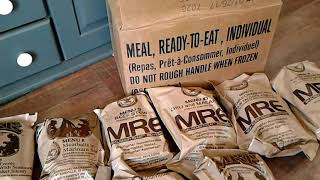 MRE's for my survival kit - bug out bag - car.