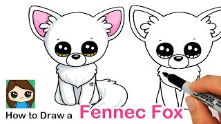 How to Draw a Fennec Fox | Beanie Boos