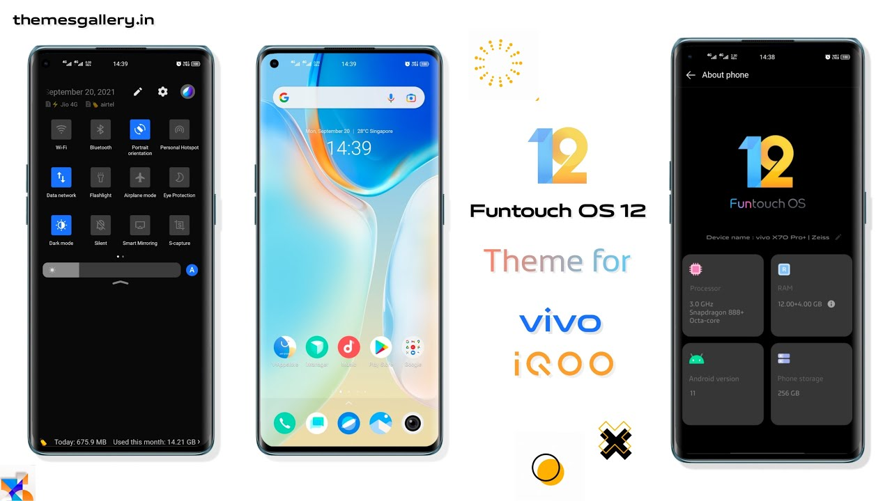 Funtouch OS 12 vivo X70 theme for all vivo and iQOO smartphone