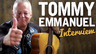Tommy Emmanuel Spills the Beans to Tony Polecastro!