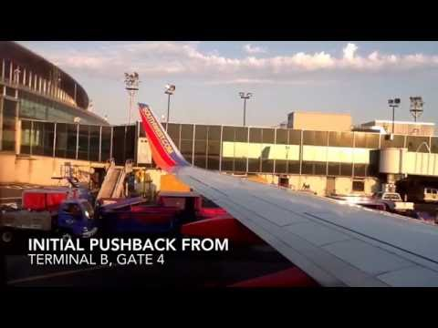 Afternoon Sunset Takeoff From LaGuardia Airport (LGA)- Southwest Airlines (HD)