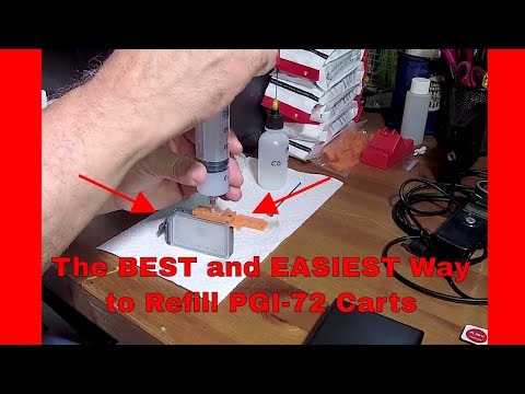 Easiest Way To Refill CANON Pro 10 PGI 72 Cartsl
