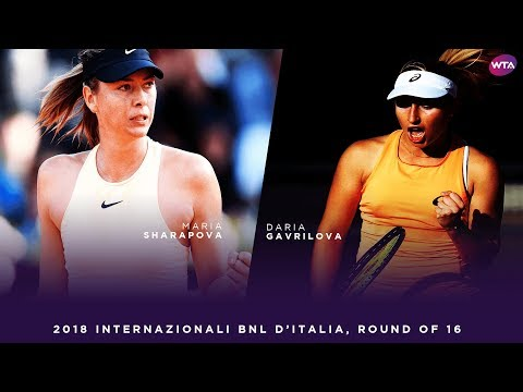 Maria Sharapova vs. Daria Gavrilova  2018 Internazionali BNL d'Italia Round of 16  WTA Highlights