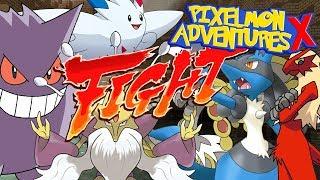 CO ZA WALKA! CO ZA EMOCJE! LIDER TYPU FIGHTING! - Pixelmon Adventures X #26 /w Hunter