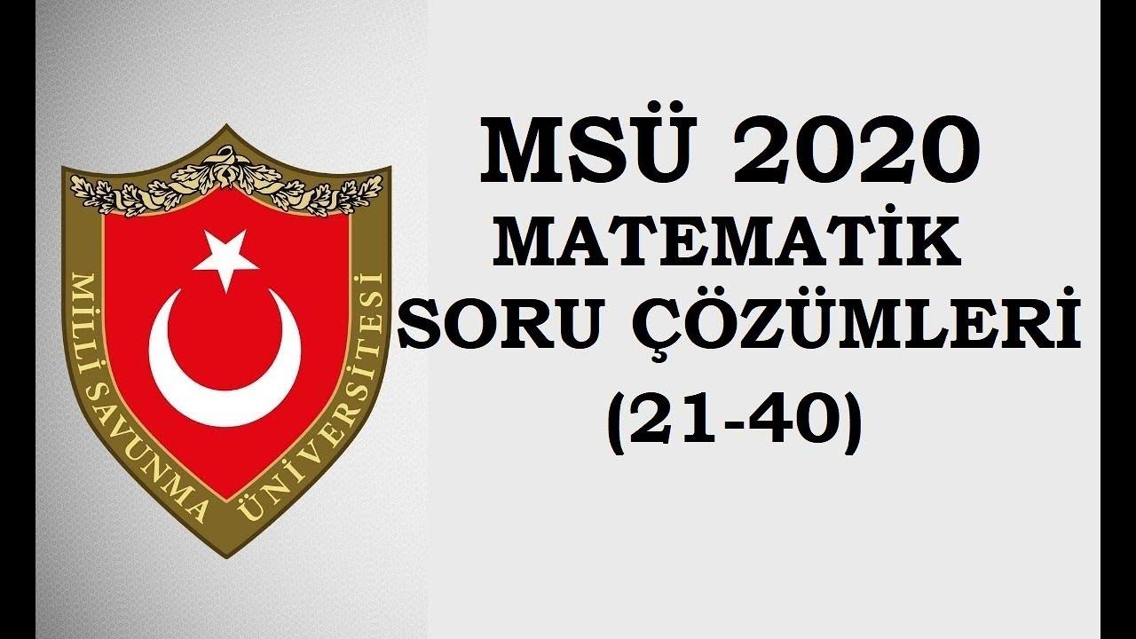 2020 MSÜ Matematik ve Geometri Sorularının Tamamını Çözüyoruz!!!